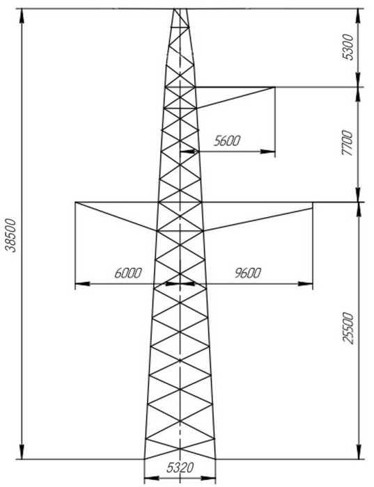 опоры П330-2, П330-2+5,